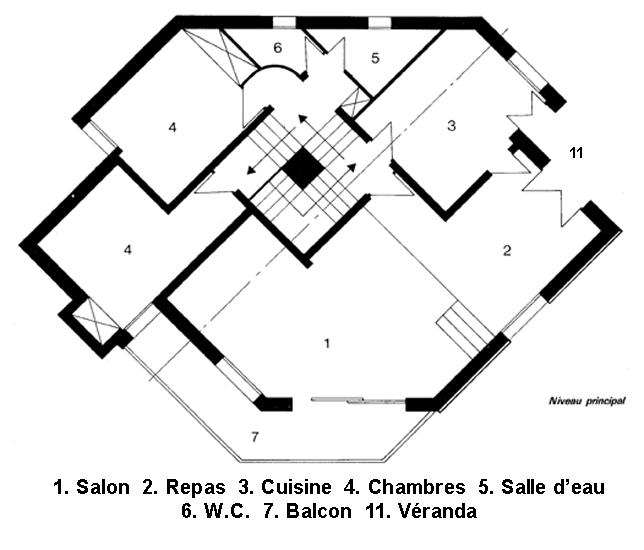 plan maison en w
